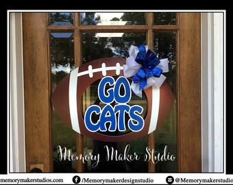 Go Cats Football Door Hanger, Kentucky Football Door Hanger, Wildcats Door Hanger, Wildcats Football, Christmas Gift, Kentucky Door hanger