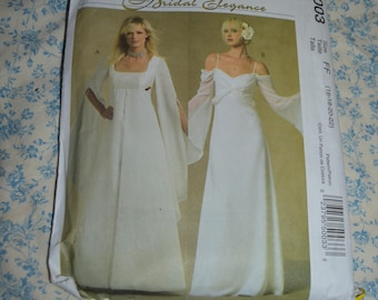 McCalls 5003 Bridal Elegance Misses Gowns Sewing Pattern - UNCUT - Size 10 12 14 16 or Size 16 18 20 22
