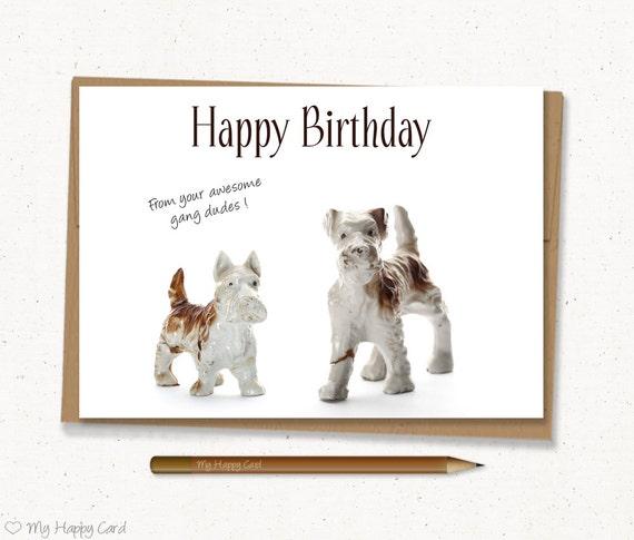 Items Similar To Birthday Card Printable Dog Birthday Card 5x7