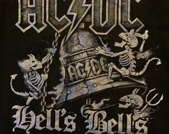 ACDC Hells Bells Rock Tee Band shirt Back in Black (L)