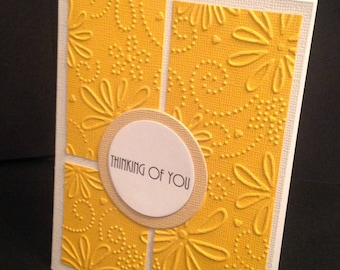 Yellow Thinking of You Card