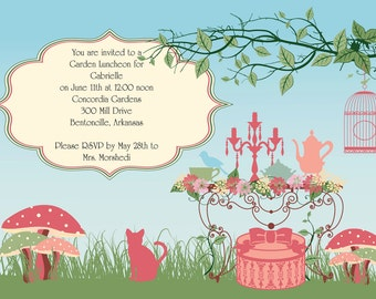 Garden Tea Party, Princess Party Invitations, Tea Party Invitations, Princess Tea Birthday, Princess Party