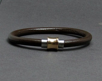 NEW DESIGN Antique Copper Mens Bracelet Stainless Steel Leather Bracelet For Men, For Boyfriend, Boyfriend Gift, Customised On Your Wrist