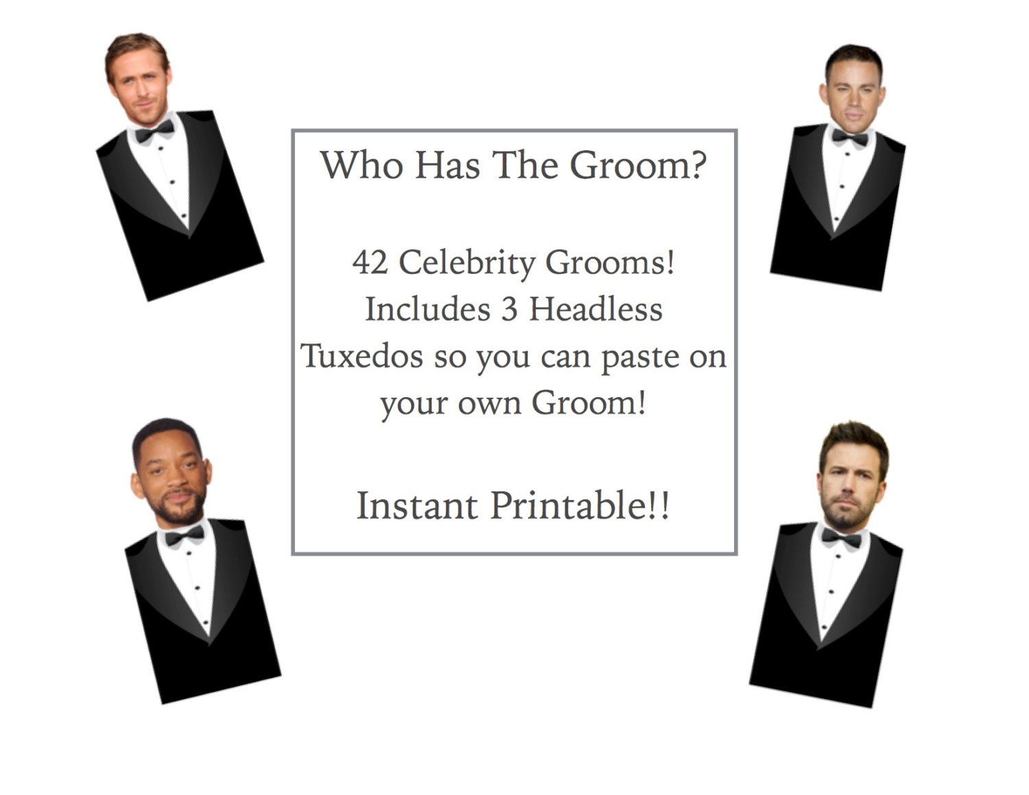 Who Has the Groom Game Instant Printable Download PDF