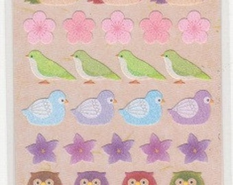 Owl Stickers - Bird Paper Stickers - Reference W4516-18