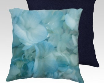 Decorative pillow cover made with image of original abstract flower photography by Joseph Calleja