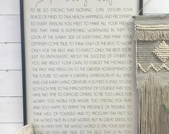 Promise Yourself - 34x46 - Wood sign
