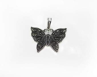 Free Domestic Shipping Sterling Silver Butterfly Pendant