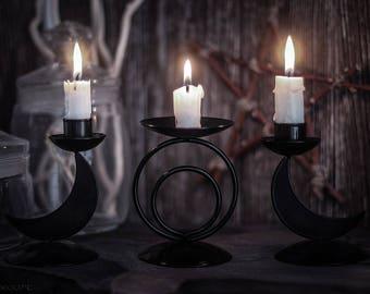 Triple Moon Candleholder Set