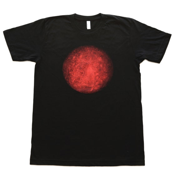 mens tee shirt planet tee planet mercury solar system t shirt