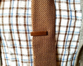 Walnut tie clip