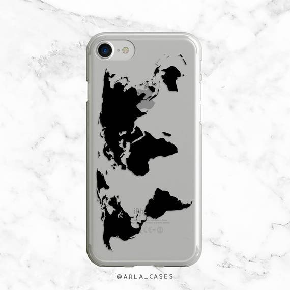 coque iphone 7 carte du monde vintege