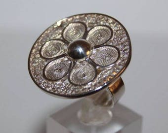 Filigree Peruvian 950 silver rings