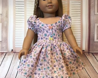 Pretty Party Dress fits American Girl and 18 inch dolls