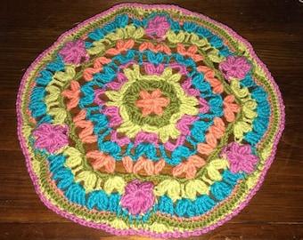 Crocheted Mandala Doily/center peice
