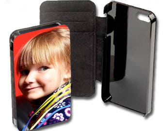 Phone case phone wallet with your photo