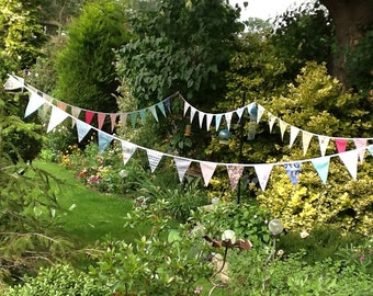 Wedding bunting - Customise your wedding bunting garland, 30ft extra long with 48 flags