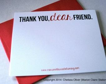 Merci Notecards - cher ami