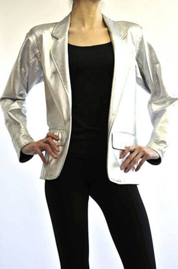 Yves Saint Laurent 80's Silver Jacket