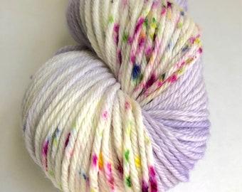 "Worsted Yarn in ""Lavender Sorbet with Sprinkles"""