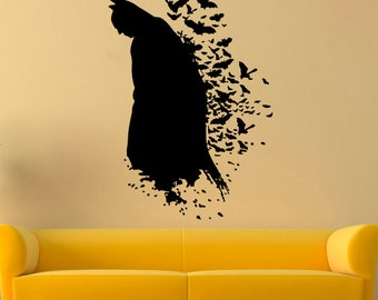 The Dark Knight Vinyl Sticker DC Comics Interior Kidsu0027 Teens Room Batman  Wall Decal Print