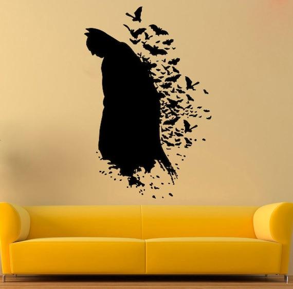 Batman Wall Decal Dark Knight Vinyl Sticker Comics Wall Decals