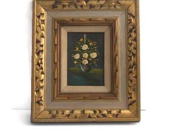 Flowers in Vase Oil Painting, Original Oil Painting, Small Oil Painting, Flowers in Vase