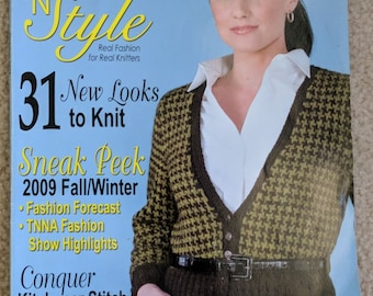 Knit 'n Style Magazine October 2009 Issue No. 163 - 31 Knitting Patterns and Tips  - Real Fashion for Real Knitters