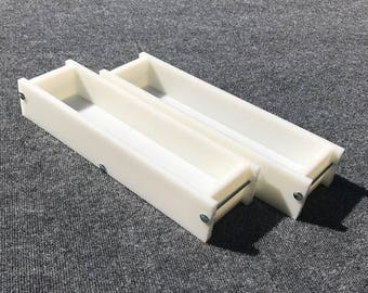Lot of 2 HDPE Soap Loaf Making Mold 4 - 5 lb per mold CP Mp HP Oven Safe