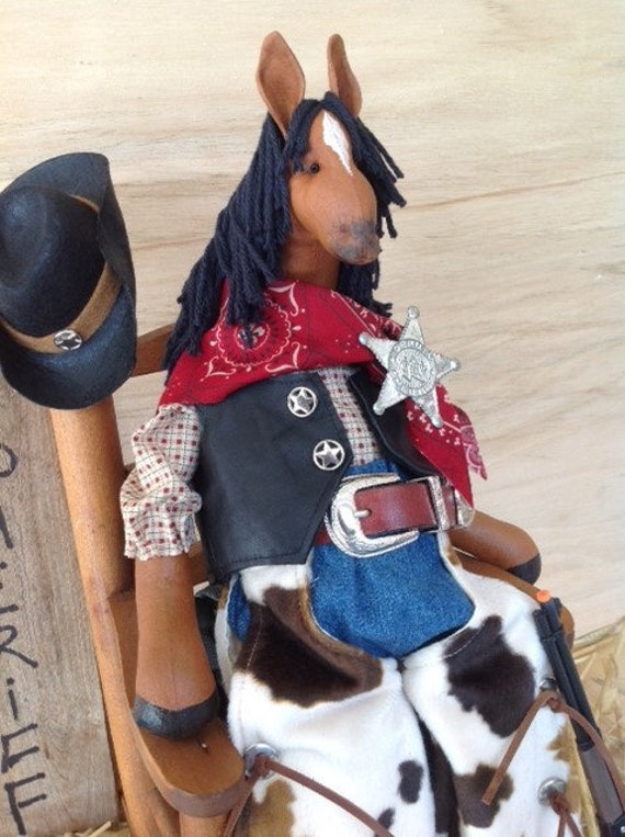 Buck - Mailed Cloth Doll Pattern Western Dressed Cowboy Horse