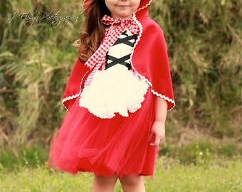 Red Riding hood costume, Red Riding Hood DRESS, girls Halloween costume, Red Riding Hood  tutu , 6/12m, 18/24m, 2/3t, 4/5t, 6/6X. 7/8, 10/12