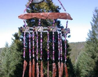 Suncatcher...Obsidian Needles and Rhinestones
