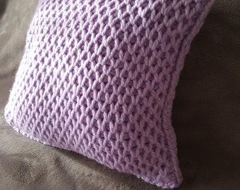 Crochet pillow Lilac