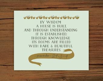 Proverbs 24:3-4 Print