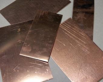 Copper Scrap - Flats - 1 Pound - FREE SHIPPING