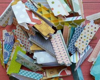 50 File Folder Die Cuts File Tab Paper Punch Divider Tabs Make Your Own Embellishments