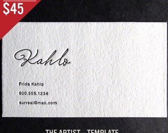 Letterpress business cards etsy 100 custom letterpress business cards the artist reheart Images