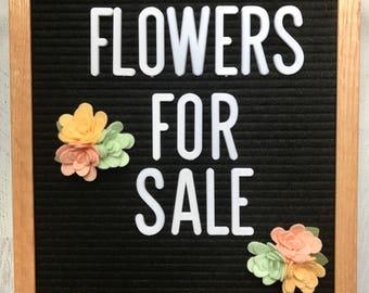 Wool Felt Flowers for LetterBoards - Mum Trios - Shower Decor