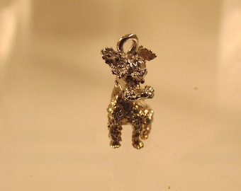 Poodle Charm / Pendant  Full Figure  @ A Village Coin Bullion 12/5/5 B