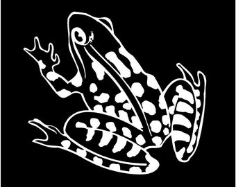 Vinyl Decal Frog Toad fun country bumper sticker car truck laptop