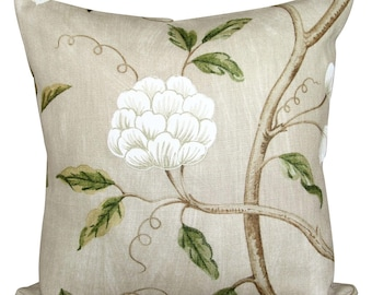 Colefax & Fowler Snow Tree Beige Cushion Cover