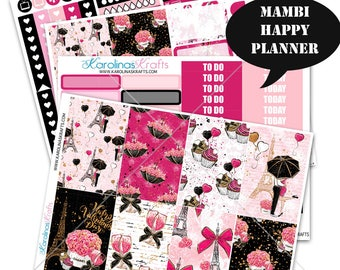 Valentine's Day Stickers, Winter Planner Kit 200+ Stickers, for Mambi Planner Sticker kit, Weekly Planner Kit #SQ00055-MHP