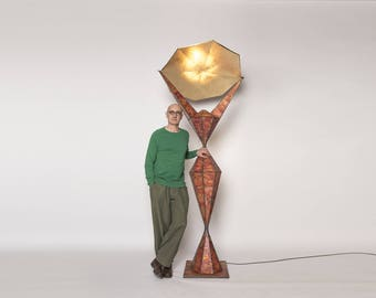 "Copper ""L15"" floor lamp"