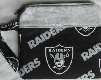 Oakland Raiders Custom Made Wristlet Embroidered NFL