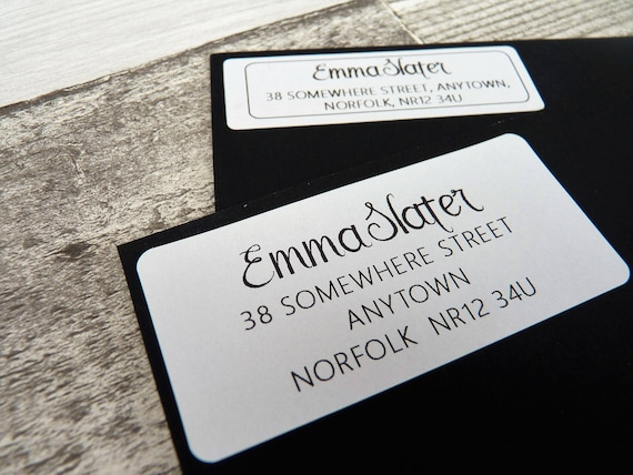 Made to order address labels personalised stickers return
