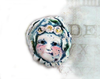 Pendant bead, Focal bead, Handmade ceramic bead, clay bead, one of a kind bead - OOAK bead -      # 146