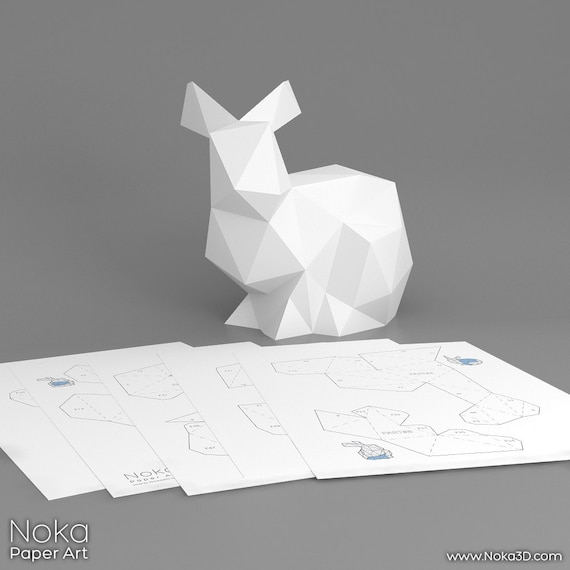 Bunny 3d papercraft model downloadable diy template bunny 3d papercraft model downloadable diy template pronofoot35fo Gallery
