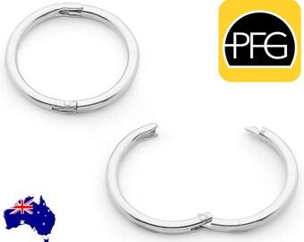 365 Sleepers 1 Pair Solid Sterling Silver 925 Hinged Hoop Sleeper Earrings Australian Made