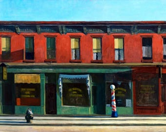 Early Sunday Morning Painting by Edward Hopper Art Reproduction