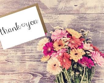 Thank You Cards ~ DIY Thank You Notes ~ Printable Thank Yous ~ Wedding